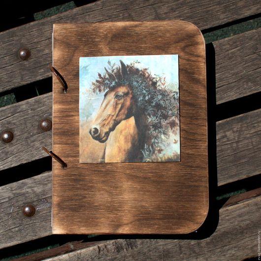 """Блокноты ручной работы. Ярмарка Мастеров - ручная работа. Купить Скетчбук А5 """"Лошадь в цветах"""" Блокнот. Handmade. Бирюзовый, артбук"""