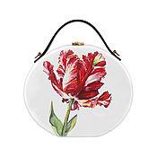 Сумки и аксессуары handmade. Livemaster - original item Women`s Tulip bag made of wood with painting. Handmade.