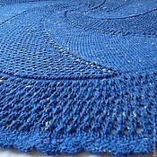 """Для дома и интерьера ручной работы. Ярмарка Мастеров - ручная работа Плед вязаный """"Глубокое синее море"""". Handmade."""