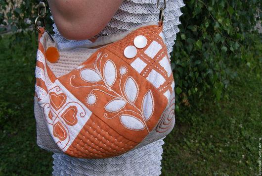 Женские сумки ручной работы. Ярмарка Мастеров - ручная работа. Купить Сумка рыжая летняя. Handmade. Рыжий, сумка