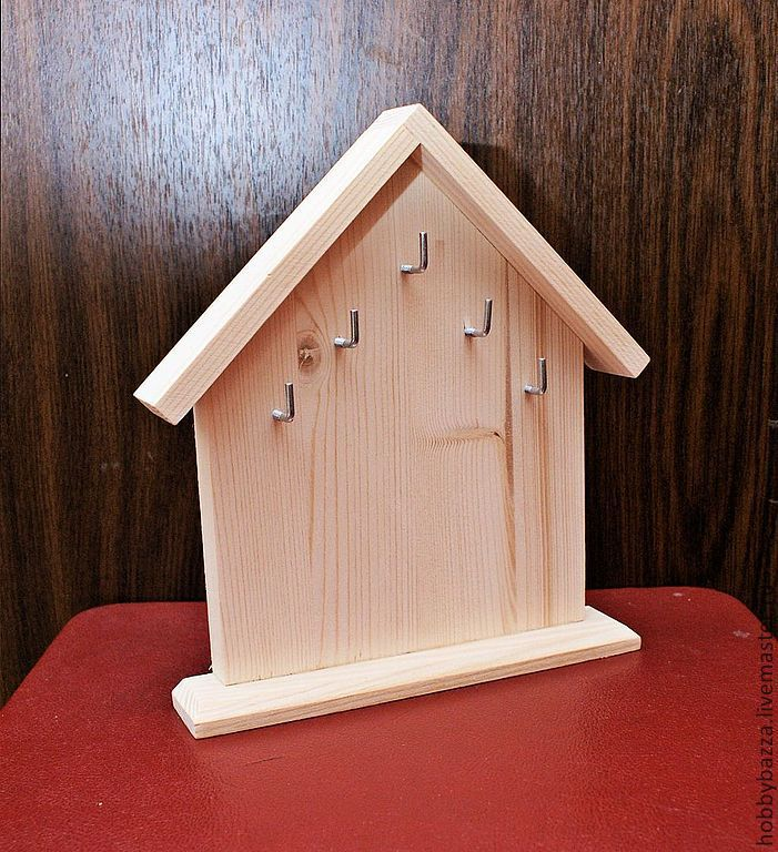 Ключница из дерева домик своими руками 96