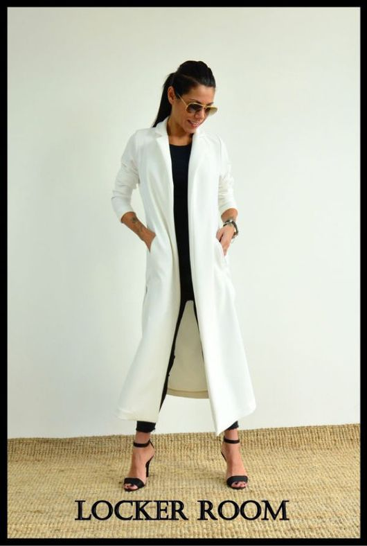 Верхняя одежда ручной работы. Ярмарка Мастеров - ручная работа. Купить Пальто кардиган White Style. Handmade. Пальто