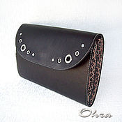 Сумки и аксессуары handmade. Livemaster - original item Leather clutch bag