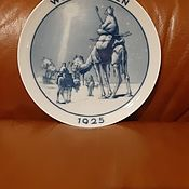 Винтаж handmade. Livemaster - original item Rosenthal Germany Collectible Wall-Mounted Porcelain Plate-Bethlehem. Handmade.
