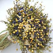 Цветы и флористика ручной работы. Ярмарка Мастеров - ручная работа «Сельский шик» букет из сухоцветов. Handmade.
