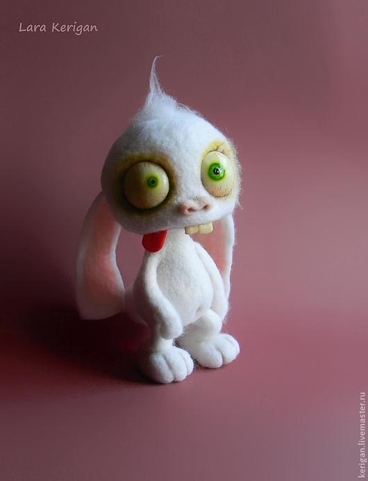 Игрушки животные, ручной работы. Ярмарка Мастеров - ручная работа. Купить заяц-ТупнячОк. Handmade. Белый, сумашедший кролик