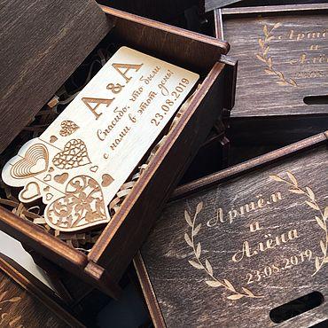 Свадебный салон ручной работы. Ярмарка Мастеров - ручная работа Свадебный магнит из дерева. Handmade.