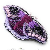 Украшения ручной работы. Ярмарка Мастеров - ручная работа Брошь мотылек Hawk фиолетовый. Handmade.