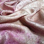 Аксессуары ручной работы. Ярмарка Мастеров - ручная работа Платок шелковый Пудрово-бордовый жаккард. Handmade.