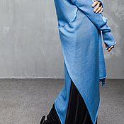 Одежда ручной работы. Ярмарка Мастеров - ручная работа КН_016 Кардиган-фрак-трансформер длинный «Небо в горах». Handmade.