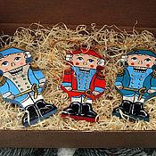 """Подарки к праздникам ручной работы. Ярмарка Мастеров - ручная работа Набор елочных игрушек """"Три Щелкунчика"""". Handmade."""
