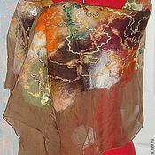 Аксессуары ручной работы. Ярмарка Мастеров - ручная работа Палантин из шелка Осень. Handmade.