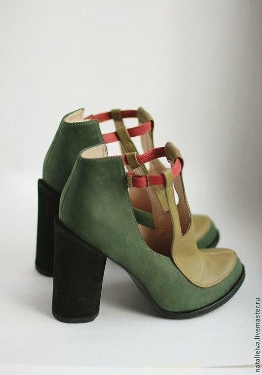 Обувь ручной работы. Ярмарка Мастеров - ручная работа. Купить Sarg Mil. Handmade. Милитари, обувь, зеленый цвет