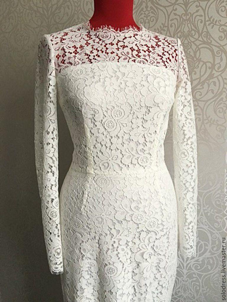 Как шить кружевное платье