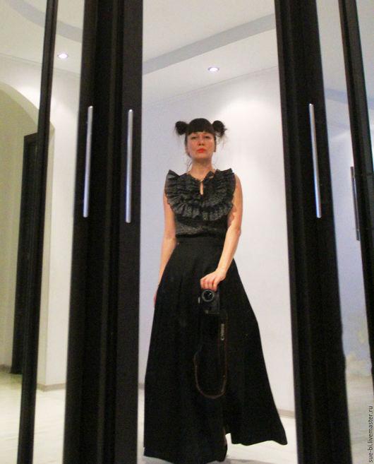 Юбки ручной работы. Ярмарка Мастеров - ручная работа. Купить Длинная юбка в пол из шерсти на зиму. Handmade.