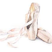 Картины и панно ручной работы. Ярмарка Мастеров - ручная работа Обувная серия. Пуанты. Handmade.