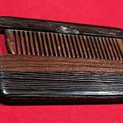 Сувениры и подарки handmade. Livemaster - original item Comb wooden in box from wenge and rosewood Santos. Handmade.