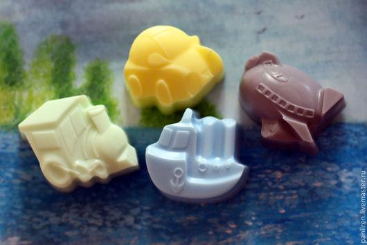 """Мыло ручной работы. Ярмарка Мастеров - ручная работа. Купить Мыло для детей """"Транспорт"""". Handmade. Разноцветный, для детей, мыло к празднику"""