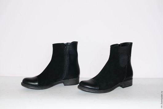 Обувь ручной работы. Ярмарка Мастеров - ручная работа. Купить Брабансоны Блэк. Handmade. Черный, замша натуральная, кожа натуральная