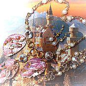Украшения handmade. Livemaster - original item Set with mother of pearl and pearls