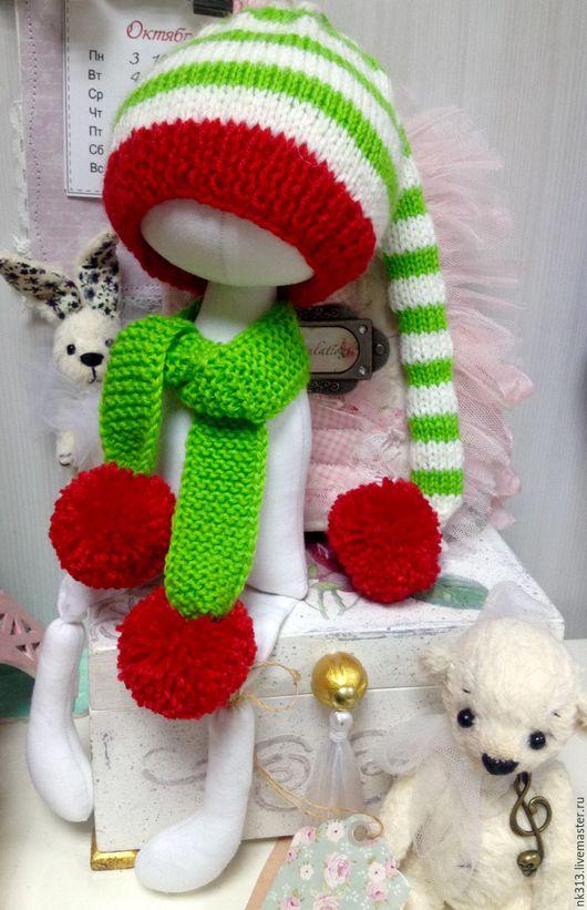 """Одежда для кукол ручной работы. Ярмарка Мастеров - ручная работа. Купить """"Гномы"""" шапочка и шарф для куклы. Handmade. Комбинированный, шапочка"""
