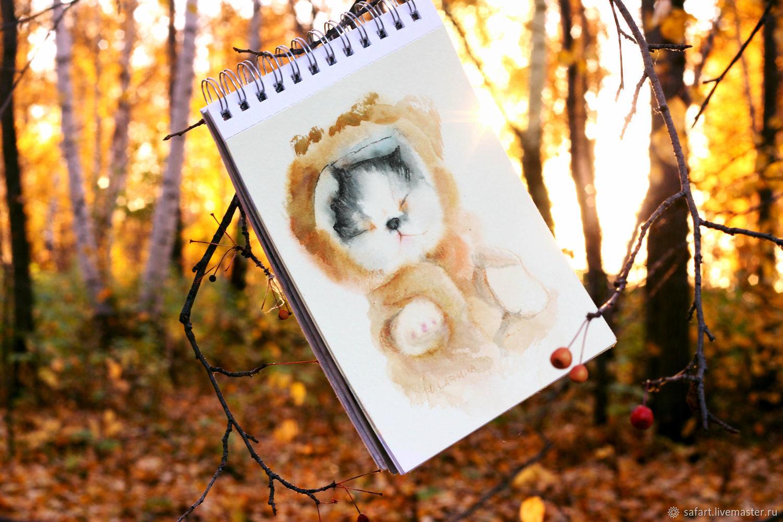 Сонный котенок картинка, Открытки, Челябинск,  Фото №1