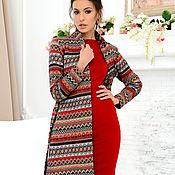 Одежда handmade. Livemaster - original item Mexico cardigan (red). Handmade.