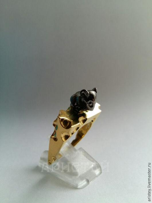 """Кольца ручной работы. Ярмарка Мастеров - ручная работа. Купить Кольцо """"Мышь и сыр"""". Handmade. Комбинированный, достаток, подарок"""