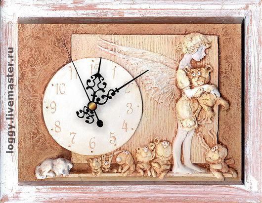 Часы для дома ручной работы. Ярмарка Мастеров - ручная работа. Купить Спят усталые игрушки.... Handmade. Ангел, дача