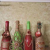 Слова ручной работы. Ярмарка Мастеров - ручная работа Интерьерные слова на бутылках. Handmade.
