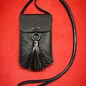 Сумка через плечо ручной работы. Ярмарка Мастеров - ручная работа Кожаная маленькая сумка Тато ручной работы. Handmade.