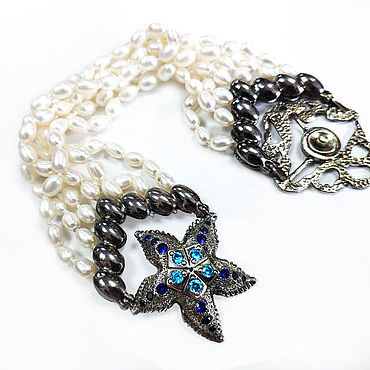 Decorations handmade. Livemaster - original item Pearl bracelet