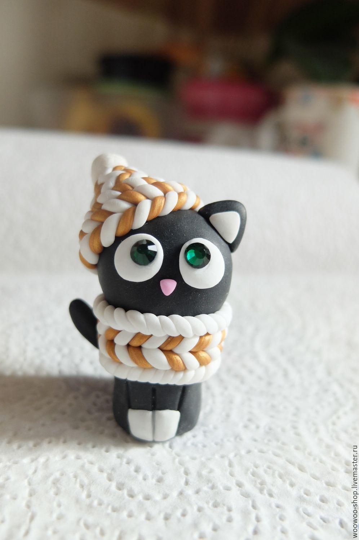 Как сделать из полимерной глины кошка
