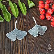 Украшения ручной работы. Ярмарка Мастеров - ручная работа Гинкго - серьги в виде листа дерева гинкго. Handmade.
