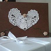 Открытки ручной работы. Ярмарка Мастеров - ручная работа открытка Кружевное сердце. Handmade.
