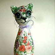 Куклы и игрушки handmade. Livemaster - original item cat - decoupage Flower. Handmade.