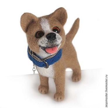 Куклы и игрушки ручной работы. Ярмарка Мастеров - ручная работа Пес Бобик. Игрушка собака из шерсти. Handmade.