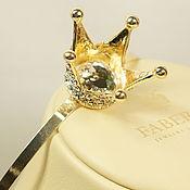 Украшения handmade. Livemaster - original item bezel - crown silver or gold big. Handmade.