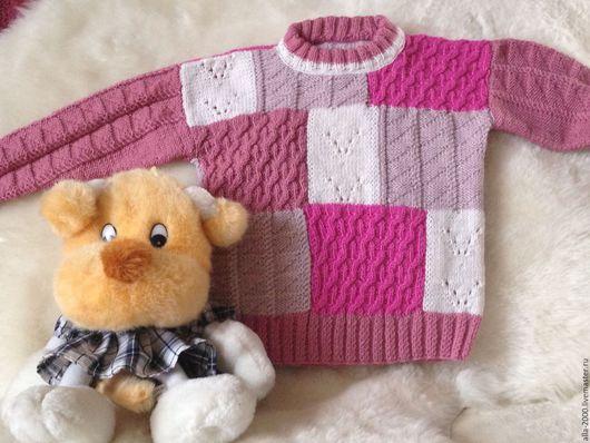 Одежда для девочек, ручной работы. Ярмарка Мастеров - ручная работа. Купить Джемпер ручной вязки  для девочки. Handmade. Детская кофточка