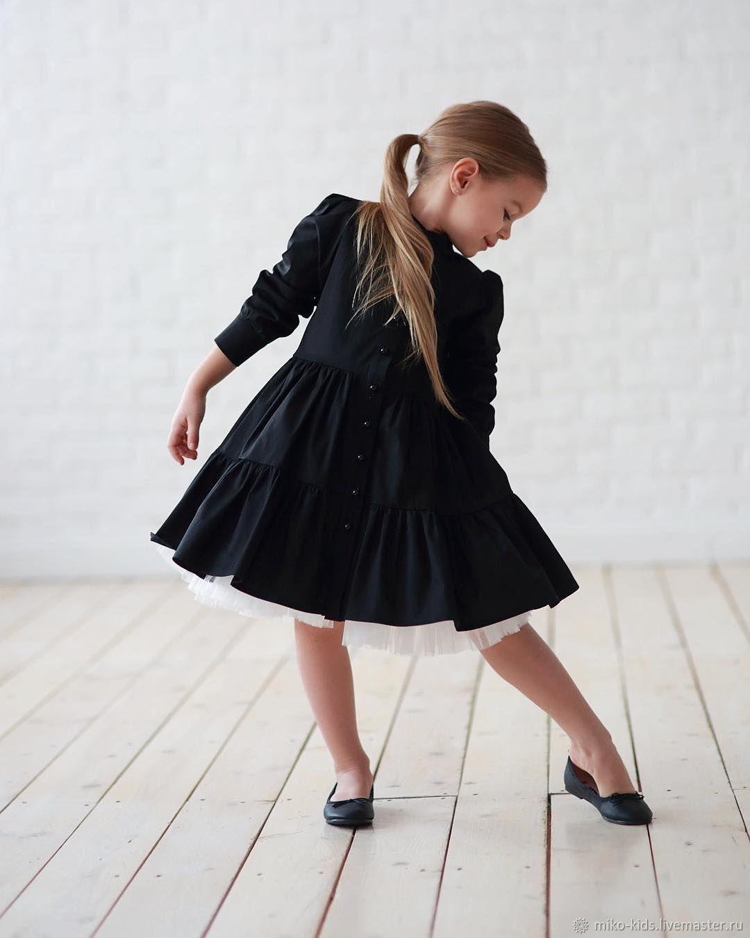 Хлопковое платье -пуговки черное, Платья, Екатеринбург,  Фото №1