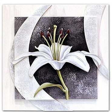 Картины и панно ручной работы. Ярмарка Мастеров - ручная работа Триптих «Белые лилии». Handmade.