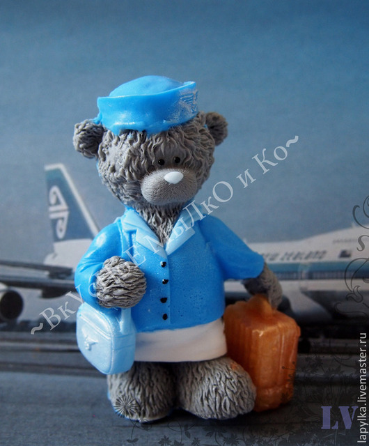 """Мыло ручной работы. Ярмарка Мастеров - ручная работа. Купить Мыло для рук """"Тедди-стюардесса"""". Handmade. Тедди, teddy"""
