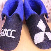 """Обувь ручной работы. Ярмарка Мастеров - ручная работа Тапочки  Валяные """"Хобби"""". Handmade."""
