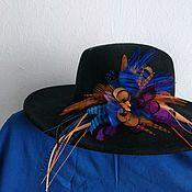 Украшения handmade. Livemaster - original item Hairpin brooch peacock, wild pheasant, guinea fowl and duck feathers. Handmade.