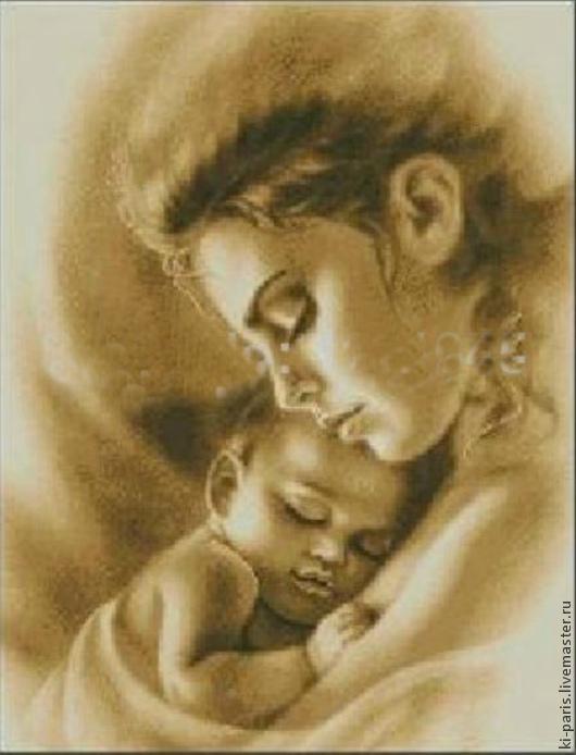 Алмазная картина `Женщина с младенцем`
