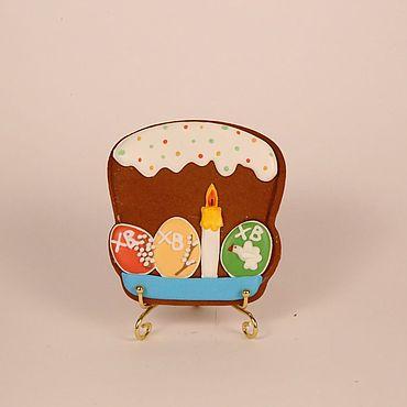 """Сувениры и подарки ручной работы. Ярмарка Мастеров - ручная работа Пряники: """"Пасхальный кулич"""". Handmade."""