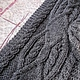 Комплекты аксессуаров ручной работы. Заказать Темно-серый комплект с аранами - шапка и шарф. Оксана Грабо (Шапки, шарфы, снуды). Ярмарка Мастеров.