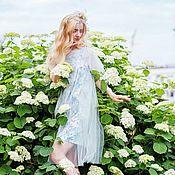 Одежда ручной работы. Ярмарка Мастеров - ручная работа Летнее платье с цветочным принтом. Handmade.