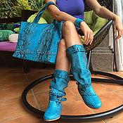 Обувь ручной работы handmade. Livemaster - original item a set of Python. Boots, handbag & bracelet.. Handmade.