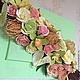 Картины цветов ручной работы. Ярмарка Мастеров - ручная работа. Купить Панно с тропическими цветами из полимерной глины. Handmade. Цветы
